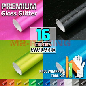 premium Gloss Glitter Metallic Sparkle Vinyl Wrap Sticker Film Bubble Free Film