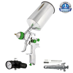 New 2 5mm Hvlp Gravity Feed Spray Gun W Regulator Auto Paint Primer Metal Flake