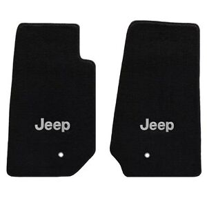 Jeep Wrangler 2 Pc All Weather Carpet Floor Mats Silver Jeep Logo 2007 2013