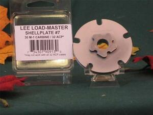 90913 Lee Load Master LM Shell Plate #7 30 M-1 Carbine & 32 ACP