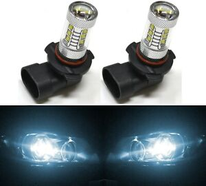 Cree Led 80w H12 9055 White 6000k Two Bulb Fog Light Replacement Off Road Lamp