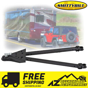 Smittybilt Tow Bar Kit For All Jeep Vehicles W D Ring Brackets 87450 Black