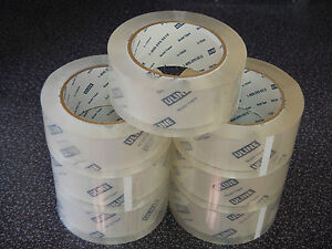 Uline Quiet Tape 7 Rolls 2 Mil 2 X 110 Yds roll Clear Noiseless Carton Packing