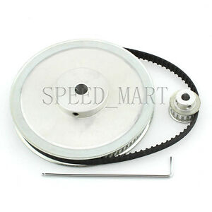 Xl 80t 16t Timing Pulley Belt Set Kit Reduction Ratio 5 1 For Stepper Motor Cnc