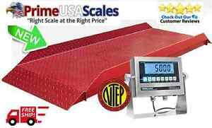 4 000 Lb X 1 Lb Optima Op 929 Cattle Livestock Alleyway Scale 30 w X 7 Ft L