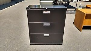 file Cabinet 3 Drawer Lateral 36 w Black With Key Lock Hon Wedeliverlocallyca