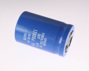 1x 12000uf 75v Large Can Electrolytic Aluminum Capacitor Dc 75vdc 12 000uf 95c