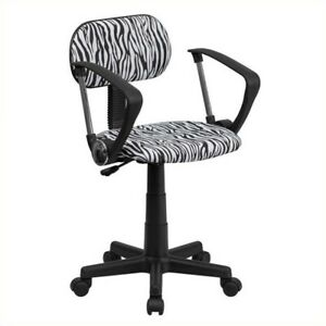 Flash Furniture Black And White Zebra Print Computer Office Chair