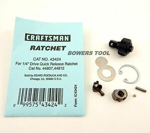 Craftsman 1 4in Dr Ratchet Repair Kit Set 43424 For 44807 44812 Usa
