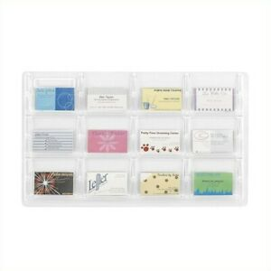 Safco Reveal 12 Business Card Display Acrylic Holders Displays