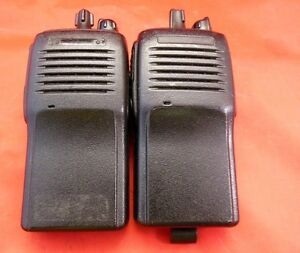 Lot Of 2 Vertex Standard vx 160v Two Way Radios h i37