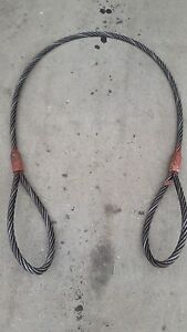 Lot Of 4 Certified Wire Rope Sling Mfg By F m Group 10 X 1