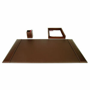 Dacasso 3 Piece Desk Set Rustic Brown
