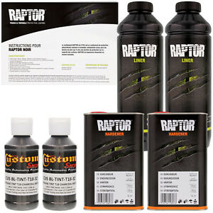 U Pol Raptor Tintable Charcoal Metallic Spray On Truck Bed Liner 2 Liters