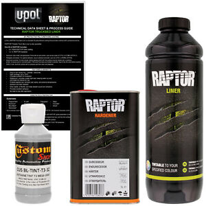 U Pol Raptor Tintable Mesa Gray Spray On Truck Bed Liner Coating 1 Liter