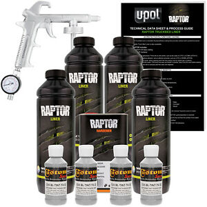U pol Raptor Tintable Dove Gray Spray on Truck Bed Liner Spray Gun 4 Liters