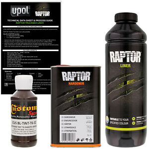 U Pol Raptor Tintable Dakota Brown Spray On Truck Bed Liner Coating 1 Liter