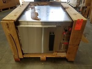 Lang 9q fcofl at208m Full Size Commercial Convection Oven Marine Stainless Steel