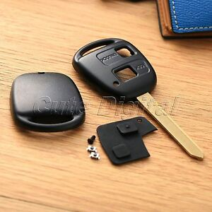 Car Lock Remote Key Fob Shell Case Rubber Pad 2button Fit For Toyota Avensis Toy