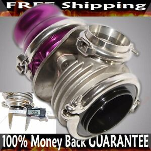 Purple Emusa 50mm V band Wastegate Fits Toyota Honda Acura Dodge Bmw