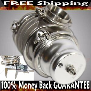 Silver Emusa 50mm V band Wastegate Fits Toyota Honda Acura Dodge Bmw