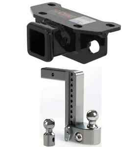 Curt Class 3 Trailer Hitch W Weigh Safe Adjustable 10 Ball Mount For Gx 460