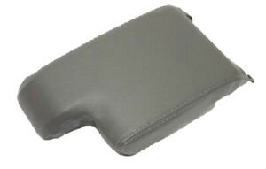 Fits 99 06 Bmw E46 Gray Real Leather Center Console Lid Armrest Cover