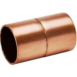 bag Of 25 1 Copper Coupling With Rolled Stop Cxc