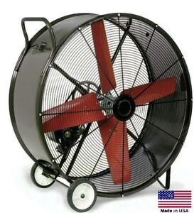 Drum Fan Portable Commercial 36 115v 1 Phase 1 2 Hp 12 100 Cfm