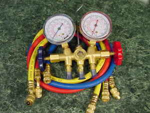 Ac Manifold Gauge Set New Air Conditioning Test Refill Kit Car Truck Testing A C