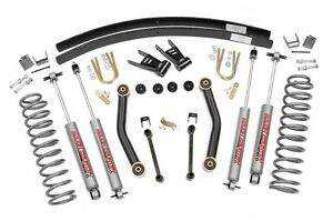 Rou 623n2 Rough Country 4 5in 84 01 Jeep Cherokee Xj Suspension Lift Kit