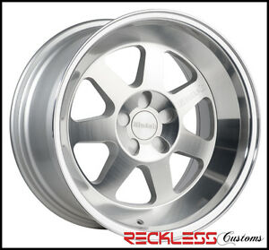 17 x9 4x100 30 Klutch Ml7 Deep Mass Lip Silver Wheels Rims Set Of 4
