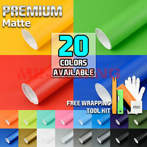 19 Colors Premium Matte Vinyl Wrap Sticker Decal Sheet Bubble Free Air Release