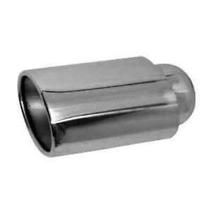 Jones Exhaust Jst116 Chrome Stainless Steel Double Wall Oval Exhaust Tip