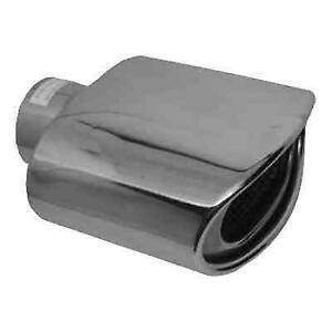 Jones Exhaust Jst119 Chrome Double Wall Resonated Oval Exhaust Tip
