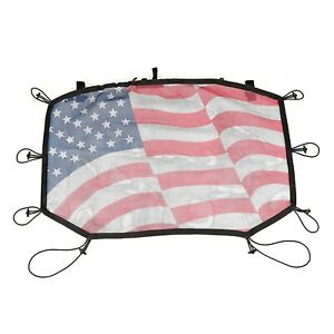 Rugged Ridge 13579 14 Front Half American Flag Soft Top For Jeep Wrangler Jk