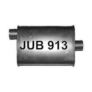 Jones Exhaust Jub913 Quiet Tone Heavy Duty Turbo Muffler 4 X 9 Oval 18 Length