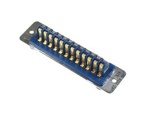 26 Series 24 Pin Contact Rack And Panel Blue Ribbon Connector Plug Wire Pro