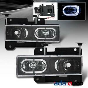 1994 1998 Chevy Gmc Silverado Suburban Tahoe C10 C K Led Halo Headlights