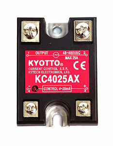 10pc Kyotto Current Control Ssr Kc4025ax Dcin 4 20ma Acout 48 480vac 25a Taiwan
