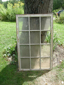 Vintage Farmhouse Old Wood Window Sash 12 Pane Picture Frame 53 1 2 X 32 1 2
