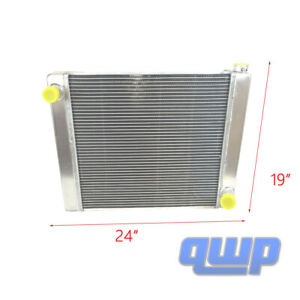 For Chevy Gm Universal Aluminum Racing Radiator 2 Row Single Pass 24 X19 X3