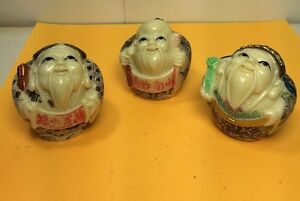 3 Japanese Asian Chinese Netsuke Figures