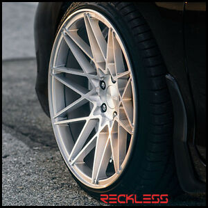 19 Klutch Km20 Silver Staggered Concave Wheels Rims Fits Toyota Camry