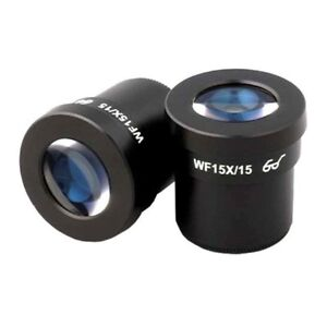 Amscope Super Wide Field 15x Microscope Eyepieces 30mm