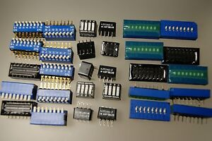 30pcs Kit Dip Switch 4 Position Rocker 8 Position Piano 8 Position 3 State Amp