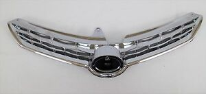 New Front Bumper Main Grille Chrome Upgrade Fits 2014 16 Toyota Corolla S