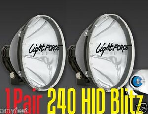 2 Lightforce 50 Watts 240 Blitz Hid 12v Driving Working Truck Light Force 50w