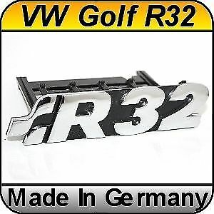Original Vw Golf R32 Chrome Front Grill Badge Emblem Golf 4 5 1997 2008