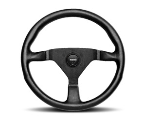 Momo Steering Wheel Monte Carlo Black Leather Black Stitch 350mm Mcl35bk1b